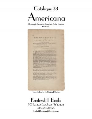 Catalogue 23: Americana 1605-1962