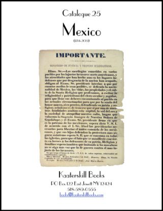 Catalogue 25: Mexico
