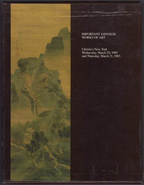 Important Japanese Works of Art. Wednesday March 20 1985 and Thursday, March 21, 1985. Six Volumes. Manson Christie, Woods.