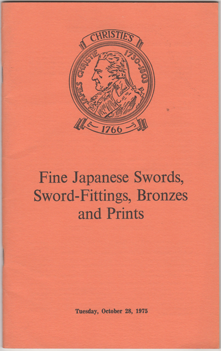 Fine Japanese Swords, Sword-Fittings, Bronzes and Prints....October 28, 1975. Manson Christie, Woods.
