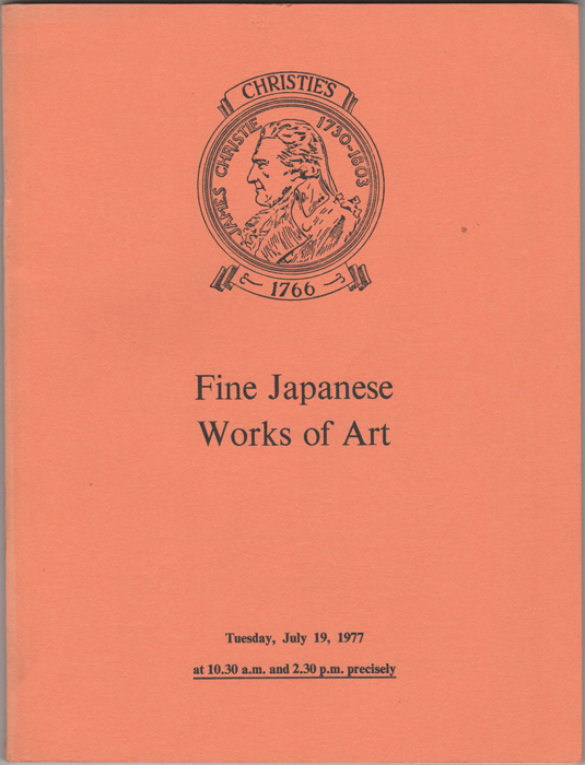 Fine Japanese Works of Art. Japanese Ivory Carvings, Netsuke, Lacquer, Ceramics, Bronzes, Swords, Sword-fittings and other Metalwork from the property of the late Lord Astor of Hever... July 19, 1977. Manson Christie, Woods.