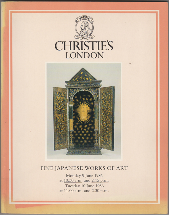Fine Japanese Works of Art. Japanese Ceramics, Lacquer, Bronzes, Cloisonne Enamel, Wood Sculpture... Properties of the Harewoood Charitable Trust. 9 June and 10 June, 1986. Manson Christie, Woods.