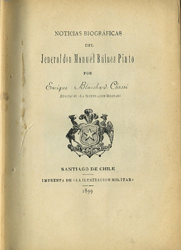 [Sammelband of Six pamphlets related to the Chilean Military]. Enrique Blanchard Chessi, M. B. Martinez Galvarino Riveros, J. Boonen Rivera, Wilhelm Frick.