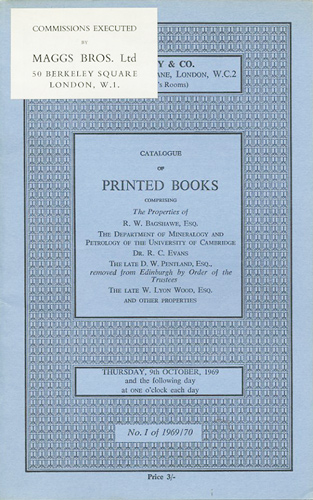 Catalogue of printed books, comprising XVIth-XVIIIth century books,  including Rheims New Testament,1582     modern press books     art,  including Bode