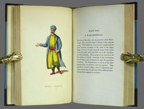 Picturesque Representations of the Dress and Manners of the Russians: Illustrated in sixty-four coloured engravings, with descriptions. William Alexander.