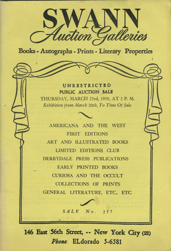 Americana and the West, first editions, art and illustrated books, Limited  Editions Club, Derrydale Press publications, early printed books, curiosa