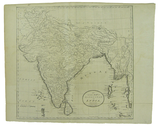 An Accurate Map of Hindostan or India, from the best authorities. J.T. Scott Sculp. Engraved for Carey's American Edition of Guthrie's Geography improved. Mathew. Scott Carey, J. T.