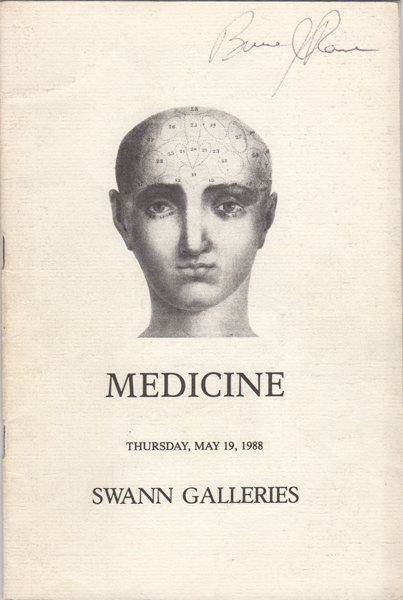 Medicine including the Reference Library of Lee Ash. May 19, 1988. Sale Number 1470. Lee. Swann Galleries Ash.