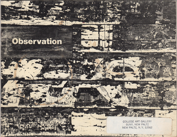 Observation. A Magazine of the Visual Arts. Spring 1968. Rina Sussman, David Brownell.