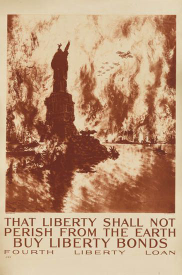 [Poster]. That Liberty Shall Not Perish from the Earth. Buy Liberty Bonds. Fourth Liberty Loan. Joseph Pennell.