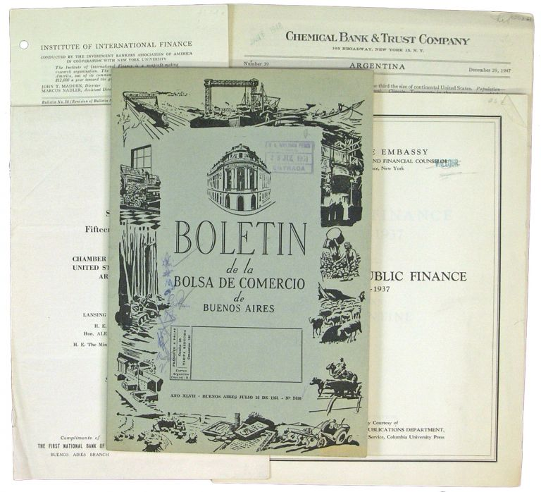 Small Archive of Five Publications on Argentine Trade and Finance: 1928-1945. Argentina.