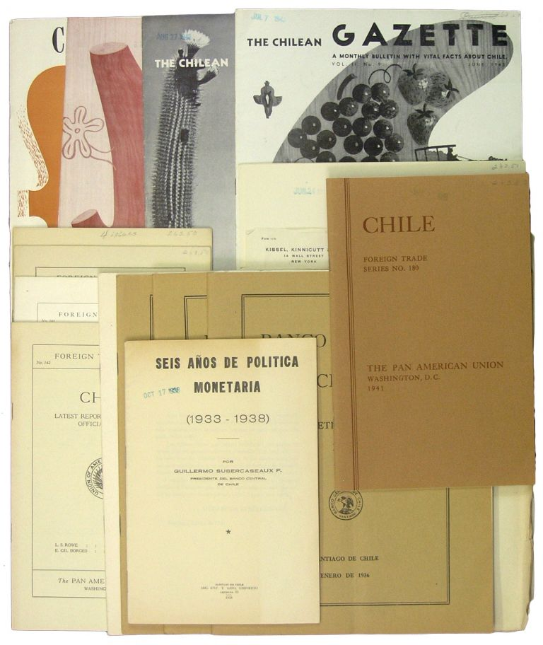 Small Archive of 19 Publications on Chilean Trade and Finance: 1927-1945. Chile.