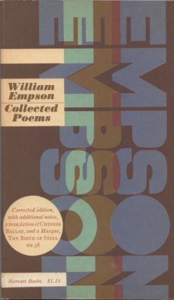 Collected Poems. William Empson