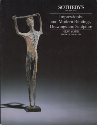 Impressionist and Modern Paintings, Drawings and Sculpture. New York Friday, October 7, 1988....