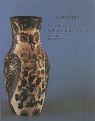 Ceramics by 20th Century Artists. Wednesday 19th October 1988. Sotheby's
