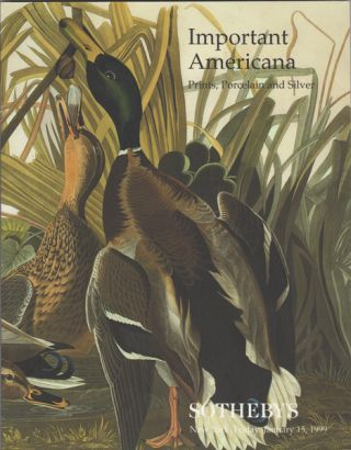 Important Americana: Prints, Porcelain and Silver January 15, 1999. Sale 7254. Sotheby's