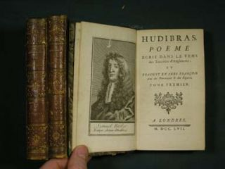 Hudibras. A Poem Written in the Time of the Civil Wars. Adorned with cuts. Hudibras. Poeme ecrit...