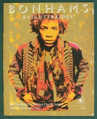 The Jimi Hendrix Exhibition Charity Auction In Aid Of Heart' n Soul (Monday 20th December...