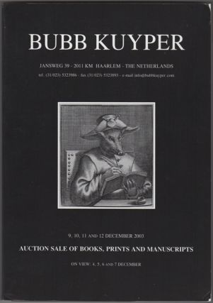 Auction Sale Of Books, Prints And Manuscripts: To Be Auctioned 9, 10, 11 and 12 December 2003....