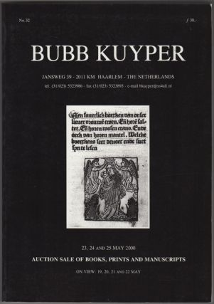 Auction Sale Of Books, Prints And Manuscripts: To Be Auctioned 23, 24 and 25 May 2000...