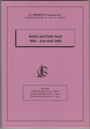 Book Auction Sale. 30- 31st May 2000. J. L. Beijers