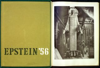 Epstein 1956. A Camera Study of the Sculptor at Work. Jacob. Ireland Epstein, photos. Intro. Laurie Lee, Geoffrey.