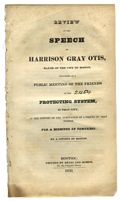 Review of the Speech of Harrison Gray Otis, Mayor of the City of Boston, Delivered at a Public...