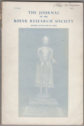 The Journal of the Bihar Research Society. Buddha Jayanti Special Issue. Vol. II [only]. Bihar...