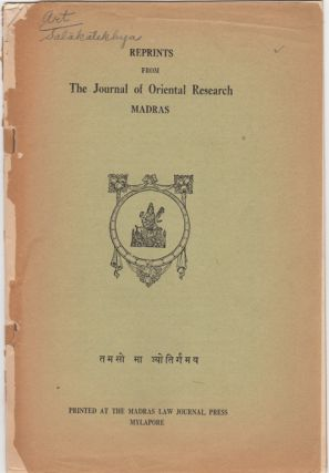 """Artists' Jottings from the Nalacampu of Trivikrama,"" [Reprints from] The Journal of Oriental..."