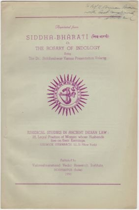 """Juridical Studies in Ancient Indian Law: 18, Legal Position of Women whose Husbands live on..."