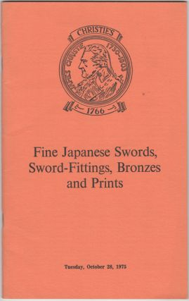 Fine Japanese Swords, Sword-Fittings, Bronzes and Prints....October 28, 1975. Manson Christie, Woods
