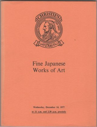 Fine Japanese Works of Art. Fine Japanese Ceramics, Lacquer, Bronzes and other Metalwork, Prints,...