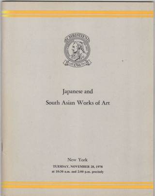 Japanese, and South Asian Works of Art. Japanese Ceramics, Metalwork, Prints, Paintings, Ivories,...