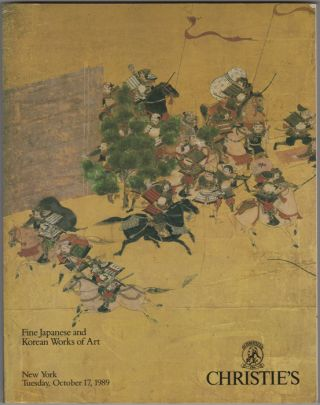 Fine Japanese and Korean Works of Art. October 17, 1989. Manson Christie, Woods