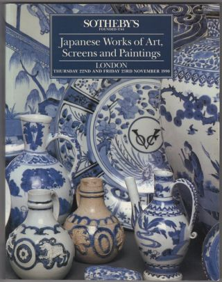 Japanese Works of Art, Screens and Paintings. 22 November and 23 November, 1990. Sotheby Parke...