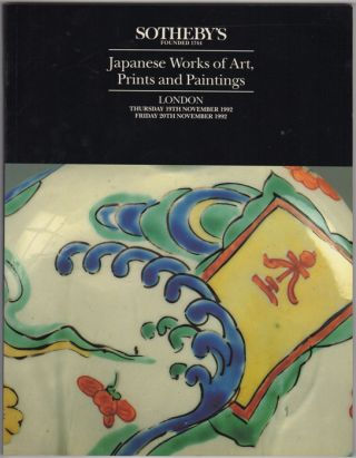 Japanese Works of Art, Prints and Paintings. 19 November and 20 November, 1992. Sotheby Parke...