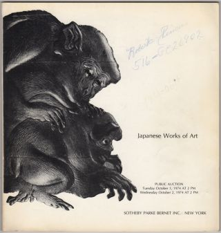 Japanese Works of Art. October 1 and October 2, 1974. Sotheby Parke Bernet, Co
