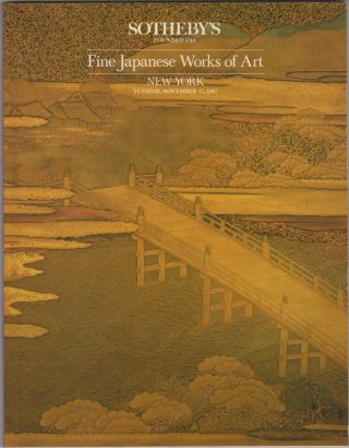Fine Japanese Works of Art. November 17, 1987. Sotheby Parke Bernet, Co