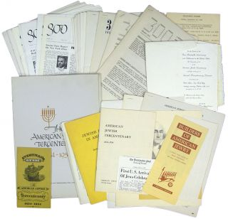 Archive of] The American Jewish Tercentenary 1654-1954. American Jewish Tercentenary Committee