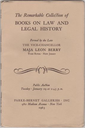 English and American Law and Legal History.... Many S.T.C. and Wing Period Titles, early New...