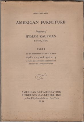 Fine American Furniture Mainly of New England Origin. Silver, glass, ceramics, miniatures,...