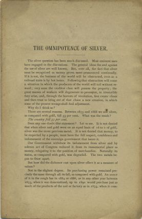 The Omnipotence of Silver. C. C. Goodwin, Charles