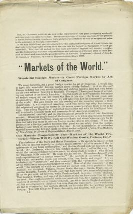 """Markets of the World."" Free Trade"