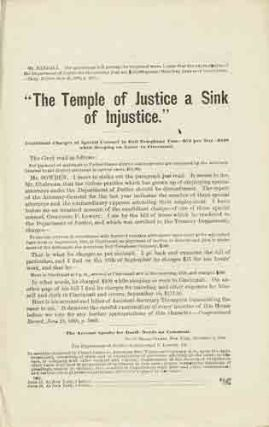 """The Temple of Justice a Sink of Injustice."" Election of 1888."