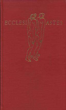 Ecclesiastes. With a Wood Engraving and Eight Trial Drawings. Bible, Hans Foy