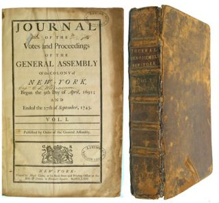 Journal of the Votes and Proceedings of the General Assembly of the Colony of New York Began the...