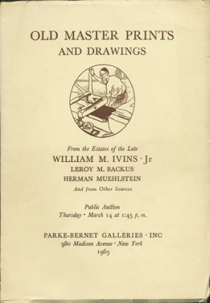 Important Old Master Engravings, Etchings, Woodcuts, Drawings. From the Estate of William M....