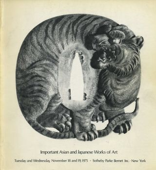 Important Asian and Japanese works of art. November 18 and 19, 1975. Sotheby Parke Bernet