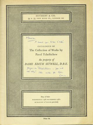Catalogue of the Collection of Works by Pavel Tchelitchew, the property of Dame Edith Sitwell,...