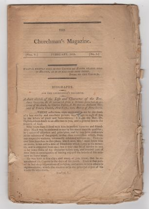 The Churchman's Magazine. Vol. V. February, 1808. No. 2. Episcopal Church